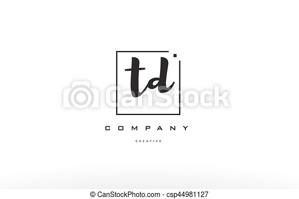 Td T D Hand Writing Letter Company Logo Icon Design Td T D Hand