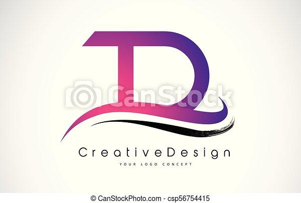 Td T D Letter Logo Design Creative Icon Modern Letters Vector Logo
