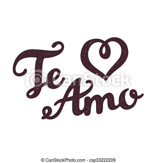 Te Amo Greeting Card Te Amo I Love You In Spanish