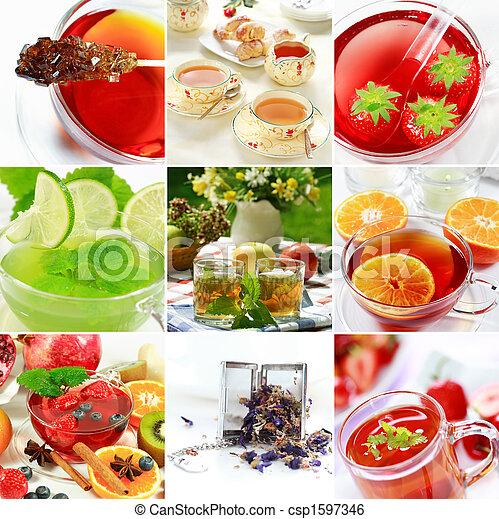Tea collage - csp1597346