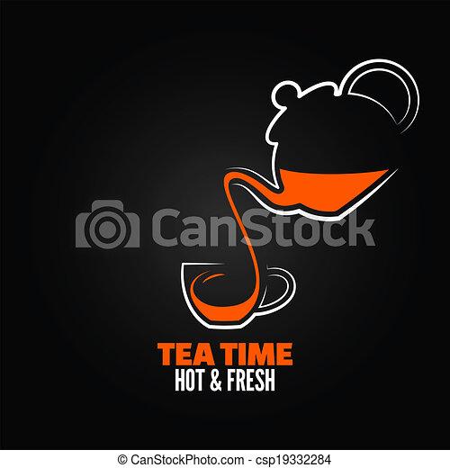 tea cup design menu backgraund - csp19332284