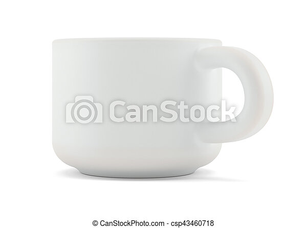 Tea cup isolated on white front view - csp43460718