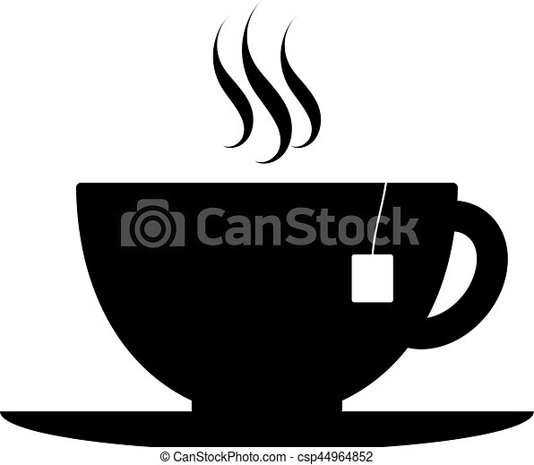 tea cup vector icon kitchen black icon of a cup of tea on a rh canstockphoto com tea cup vector logo tea cup vector old