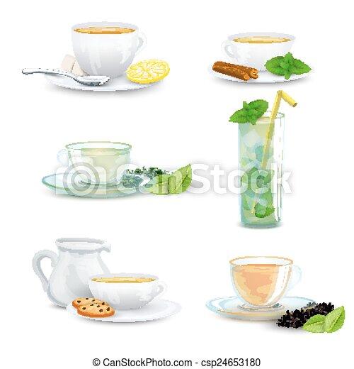 Tea Icon Set - csp24653180
