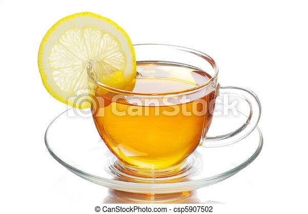 tea in cup - csp5907502