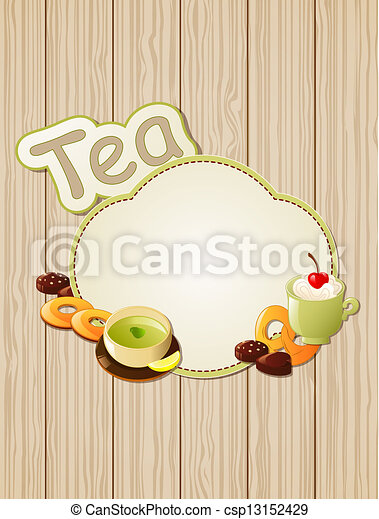Tea label - csp13152429