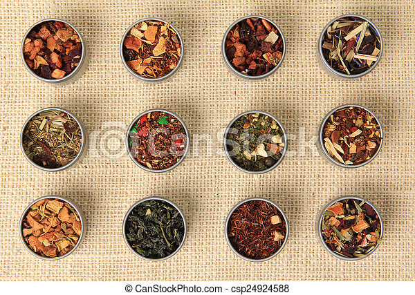 Tea leaves - csp24924588