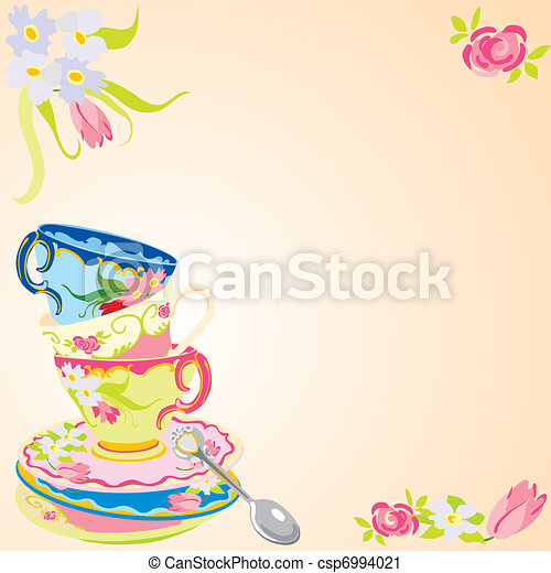 Tea party invitation - csp6994021