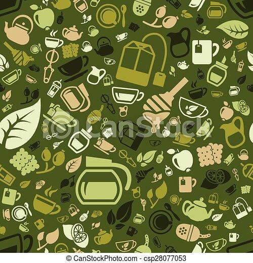 tea seamless pattern - csp28077053