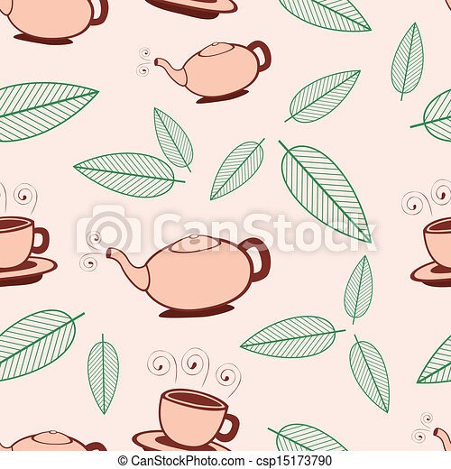 Tea Seamless Pattern - csp15173790