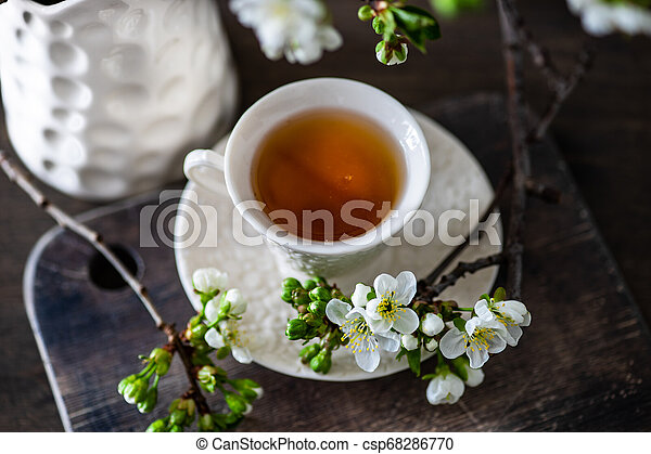Tea time concept - csp68286770