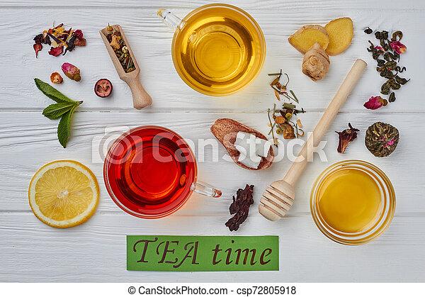 Tea time concept. - csp72805918