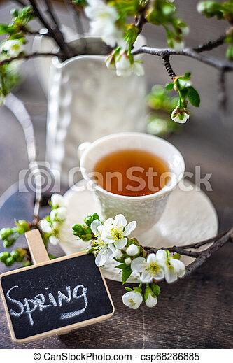 Tea time concept - csp68286885