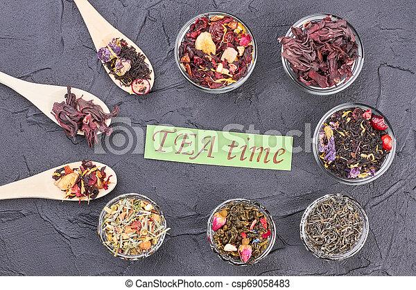 Tea time concept. - csp69058483