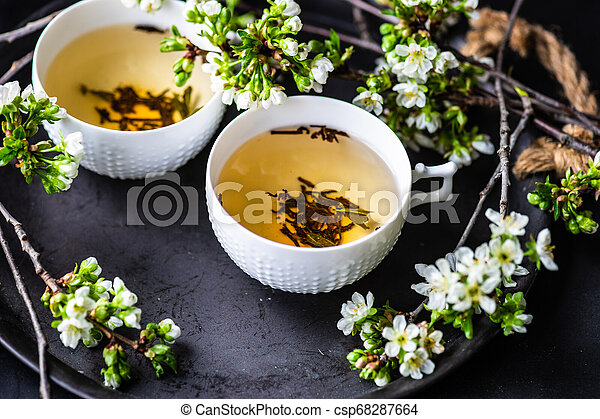 Tea time concept - csp68287664