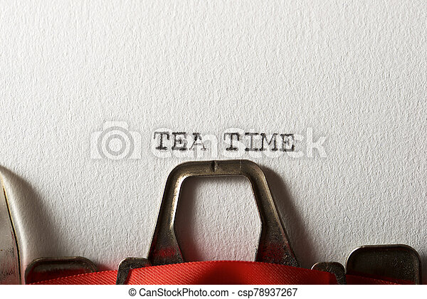 Tea Time Concept - csp78937267
