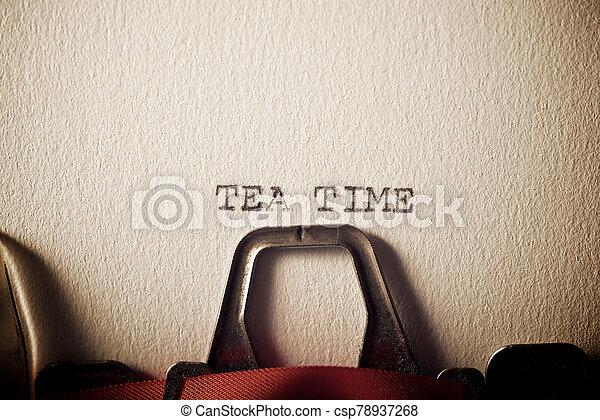 Tea Time Concept - csp78937268