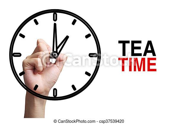 Tea Time Concept - csp37539420