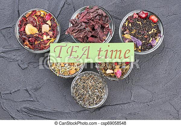Tea time concept. - csp69058548