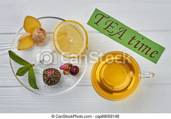 TEA time concept. - csp69059148