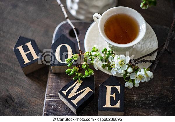 Tea time concept - csp68286895