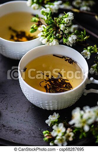 Tea time concept - csp68287695
