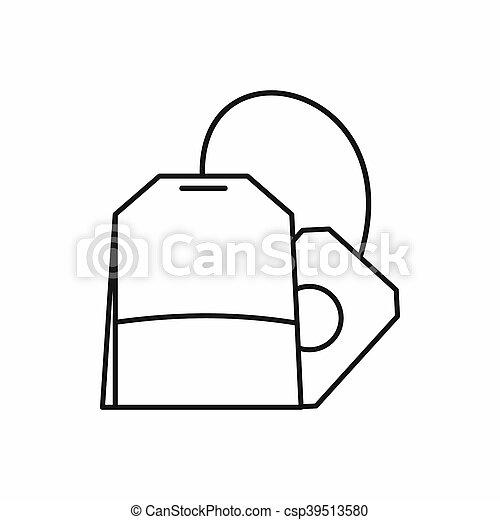 Teabag icon, outline style - csp39513580