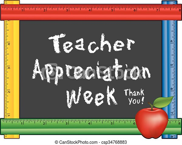 Teacher Appreciation Week, Apple - csp34768883