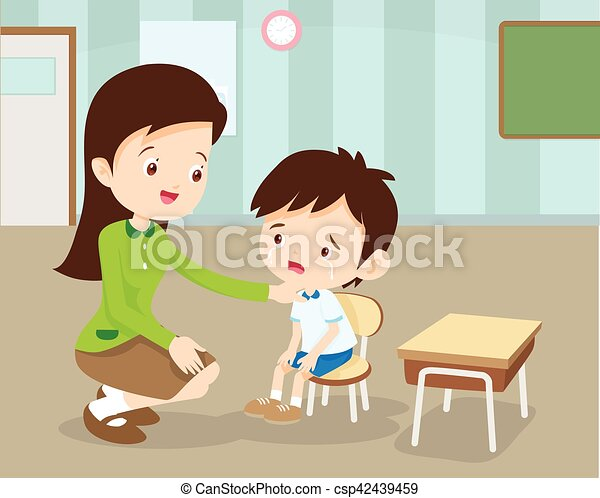 teacher comforting her crying student woman teacher comforting her rh canstockphoto com classroom with teacher and students clipart teacher reading with students clipart