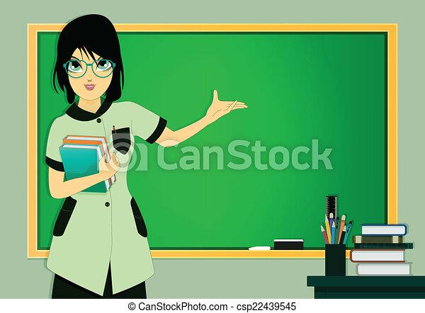Teacher in class - csp22439545