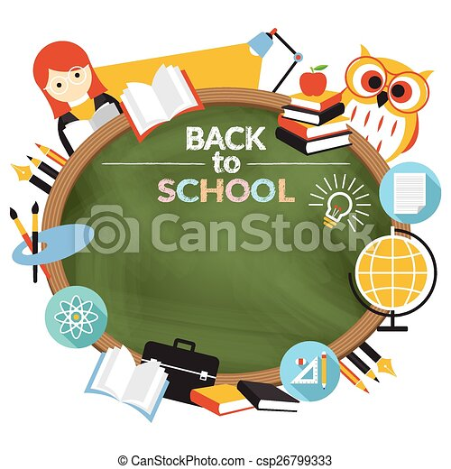 Teacher, student education frame. Education, learning and study in ...