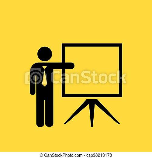 Teacher vector icon - csp38213178