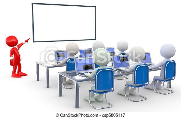 teacherand, scholieren - csp5805117