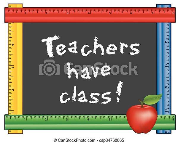 Teachers have Class! Ruler Frame - csp34768865