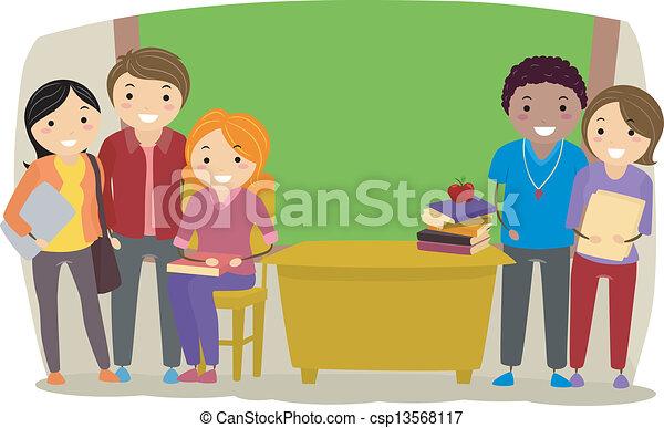 Teachers in a Classroom - csp13568117