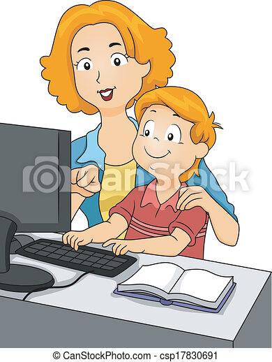 Teaching Son - csp17830691