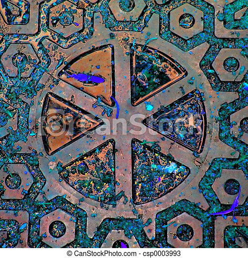 Teal Abstract - csp0003993