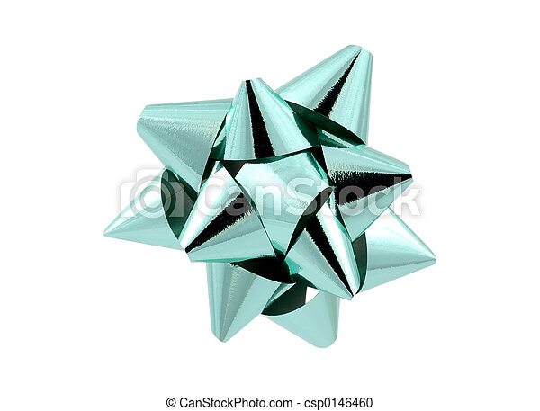 Teal Bow - csp0146460