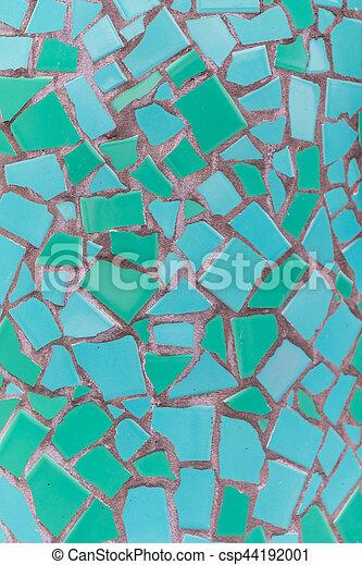 Teal Mosaic Tile Texture - csp44192001