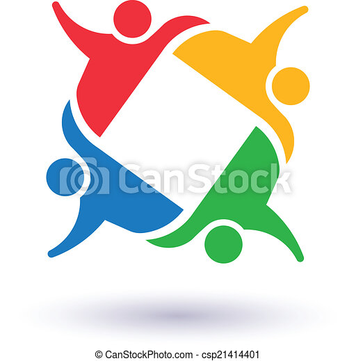 team 4 committee concept group of people united social vector rh canstockphoto com Happy Dance Clip Art Diversity Clip Art Borders