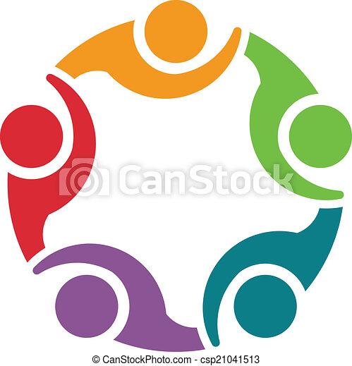 Team 5 congress.Concept group logo - csp21041513