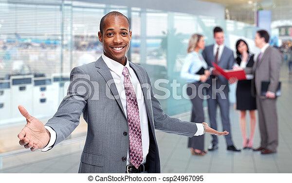 team., afričan- američanka, člověk obchodního ducha - csp24967095
