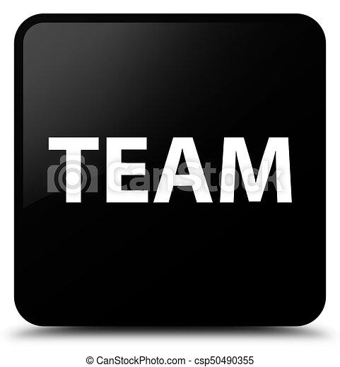 Team black square button - csp50490355