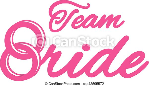 Team Bride with wedding rings - csp43595572