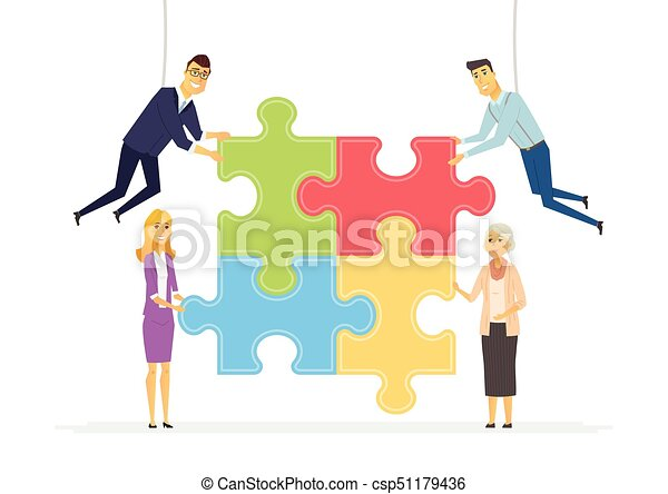 team building in a company modern cartoon people vectors rh canstockphoto com team building clipart png