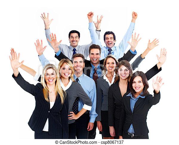 Feliz equipo de gente de negocios. - csp8067137
