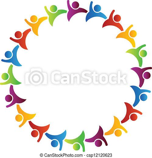 Team group of people - csp12120623