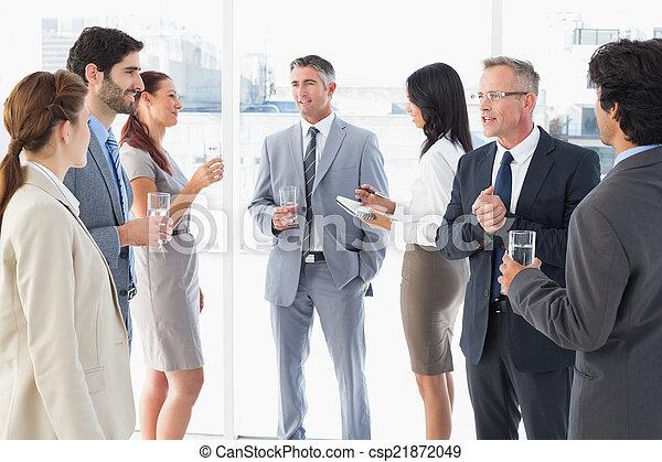 team, het genieten van, zakelijk, enig, etentje - csp21872049
