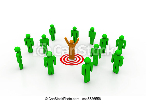 team leader target stock illustration search eps clip art rh canstockphoto com