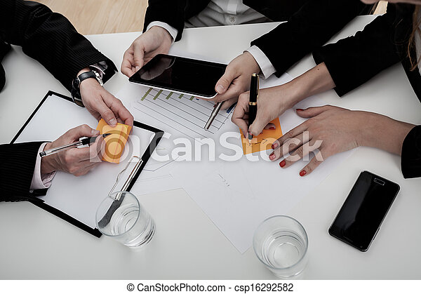 Team of business people on the meeting - csp16292582